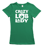 Crazy Labrador Lady T-Shirt - Green