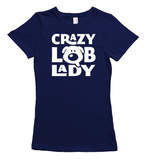 Crazy Labrador Lady T-Shirt - Navy