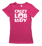 Crazy Labrador Lady T-Shirt - Pink