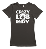 Crazy Labrador Lady T-Shirt - Smoke