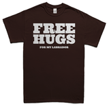 Free Hugs for Labradors T-Shirt - choc
