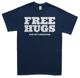 Free Hugs for Labradors T-Shirt - Navy