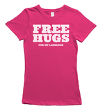 Free Hugs for Labradors T-Shirt - Pink