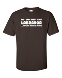 All I care about is my Labrador t-shirt - Chocolate