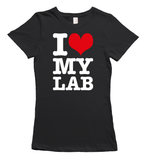 I love my labrador t-shirt - black