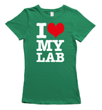I love my labrador t-shirt - green