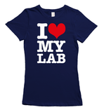 I love my labrador t-shirt - navy