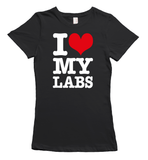 I love my labradors t-shirt - black