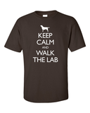 Keep Calm and Walk the Labrador T-Shirt - Chocolate