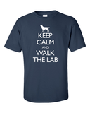 Keep Calm and Walk the Labrador T-Shirt - Navy