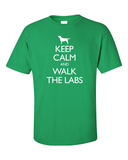 Keep Calm and Walk the Labrador T-Shirt - Green