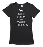 Keep Calm and Walk the Labradors T-Shirt