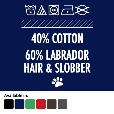 Labrador hair and slobber t-shirt - logo