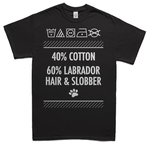 Labrador hair and slobber t-shirt - black