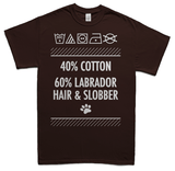 Labrador hair and slobber t-shirt - choc