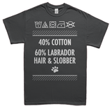 Labrador hair and slobber t-shirt - gray