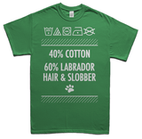 Labrador hair and slobber t-shirt - green