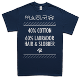 Labrador hair and slobber t-shirt - navy