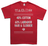 Labrador hair and slobber t-shirt - red