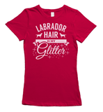 Labrador Hair is my Glitter - red