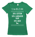 Labrador hair and mud t-shirt - green