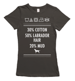 Labrador hair and mud t-shirt - gray