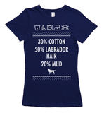 Labrador hair and mud t-shirt - navy