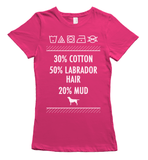Labrador hair and mud t-shirt - pink