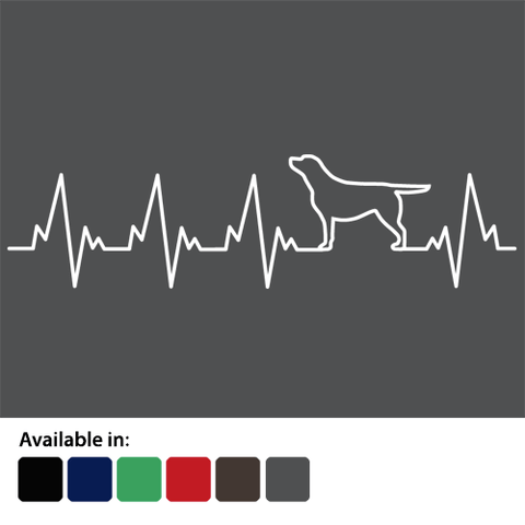 Labrador lovers heartbeat t-shirt - logo
