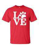 Dog Lovers T-Shirt - Red
