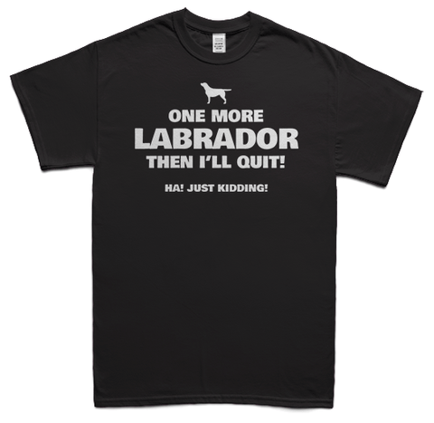 One more Labrador t-shirt - black
