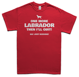 One more Labrador t-shirt - red