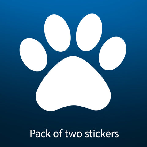 Labrador paw vehicle sticker / decal