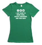 Labrador Rescue T-shirt - Green