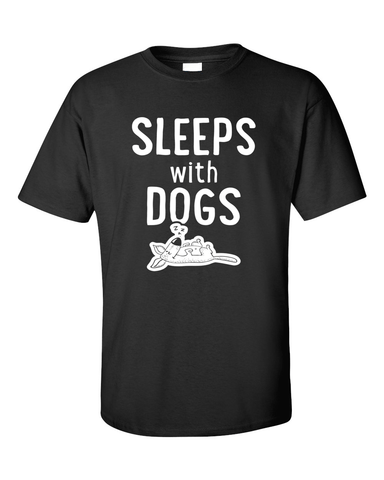 Sleeps with Dogs - Mens T-Shirt - Black