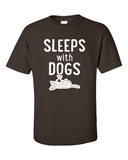 Sleeps with Dogs - Mens T-Shirt - Chocolate