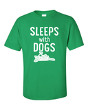 Sleeps with Dogs - Mens T-Shirt - Green