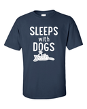 Sleeps with Dogs - Mens T-Shirt - navy
