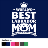 Worlds best Labrador Mom t-shirt - logo