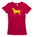 Yellow Labrador T-Shirt - Red