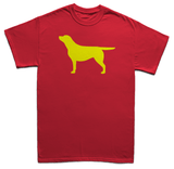 Yellow Labrador Silhouette - Men's T-Shirt