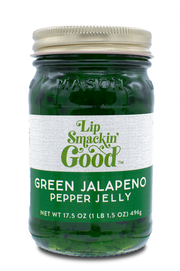 Green Jalapeño Pepper Jelly- Lip Smackin' Good