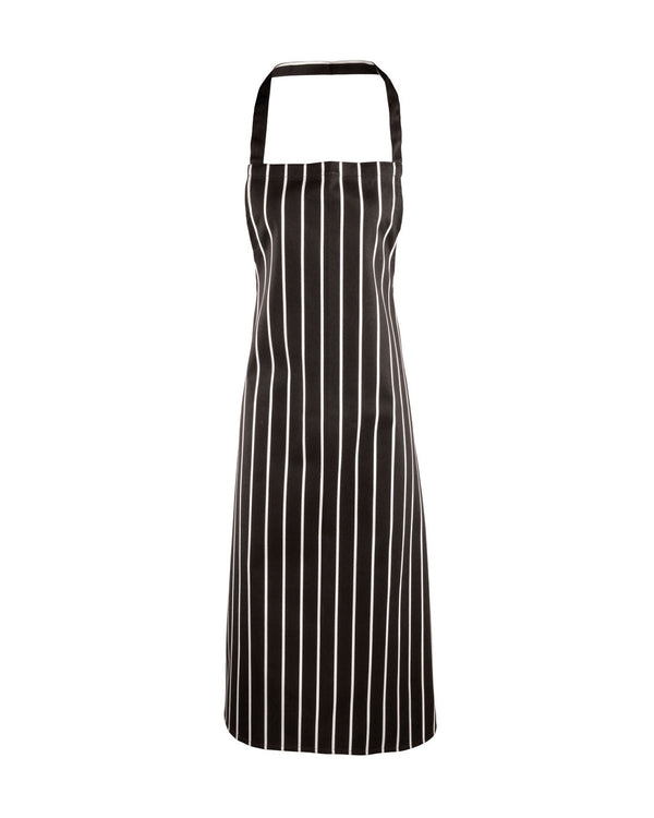 Classic Stripe Bib Apron Workwear from Premier branded with your logo or Design by York Workwear promoting you and your business