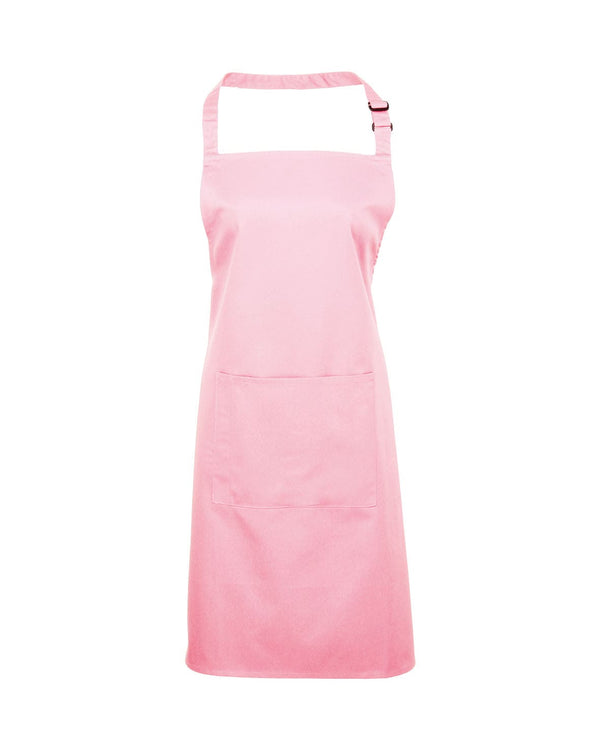Colours Bib Apron With Pocket Workwear from Premier branded with your logo or Design by York Workwear promoting you and your business