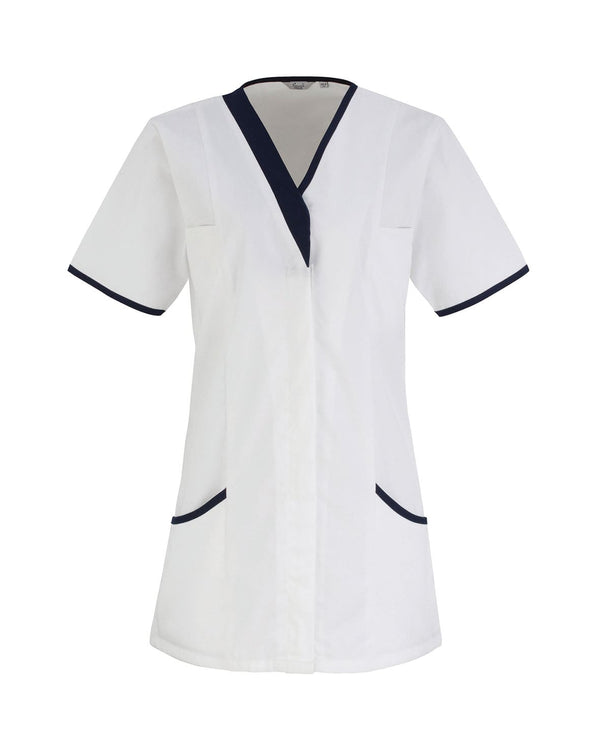 Daisy Healthcare Tunic Workwear from Premier branded with your logo or Design by York Workwear promoting you and your business