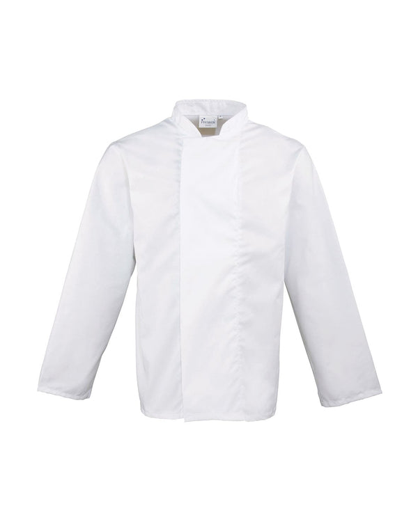 Coolmax Long Sleeved Chef's Jacket Workwear from Premier branded with your logo or Design by York Workwear promoting you and your business