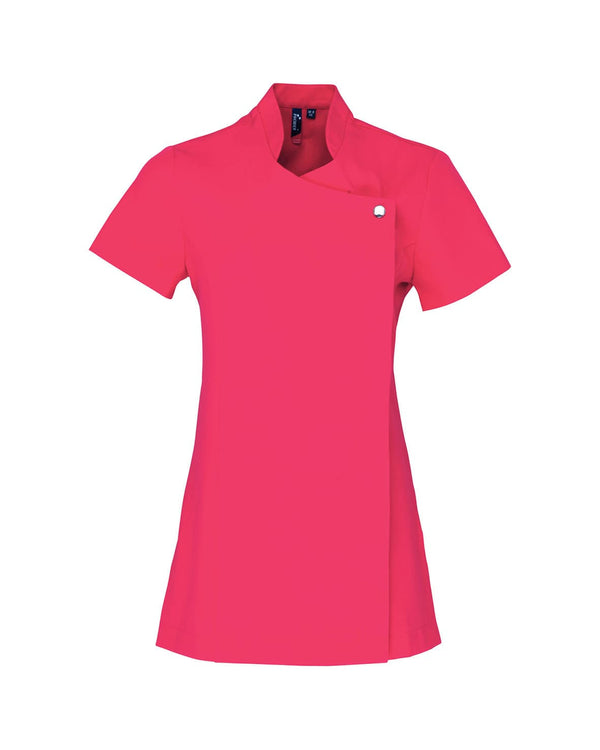Blossom Beauty and Spa Tunic Workwear from Premier branded with your logo or Design by York Workwear promoting you and your business
