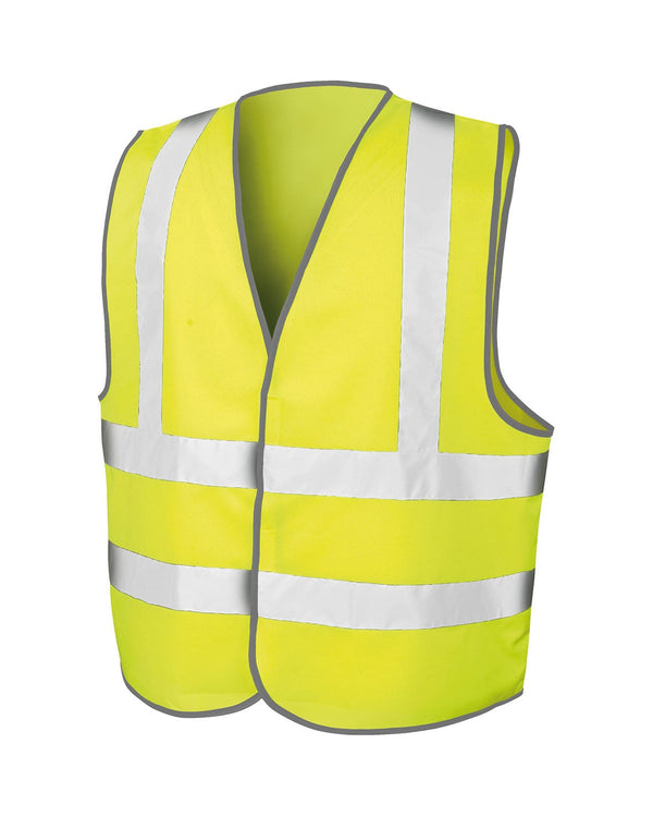 Core Safety High Vis Vest Workwear from Result branded with your logo or Design by York Workwear promoting you and your business