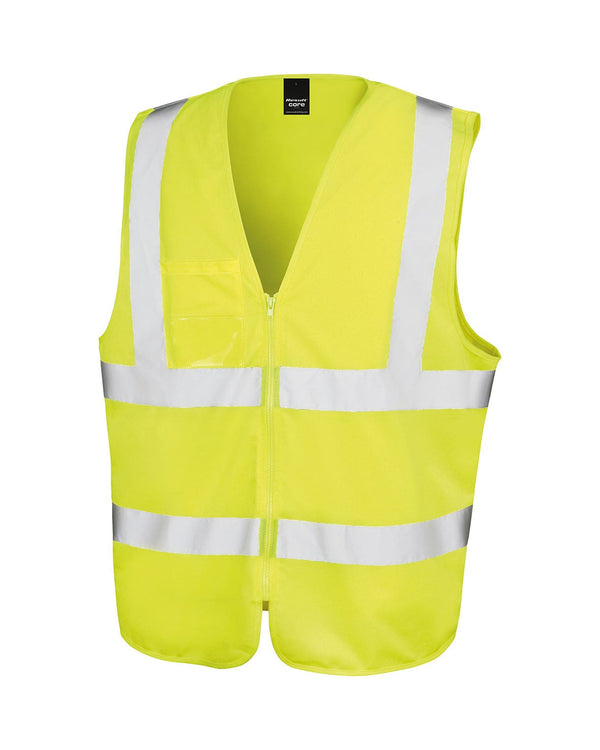 Core Safety Zip Tabard Workwear from Result branded with your logo or Design by York Workwear promoting you and your business
