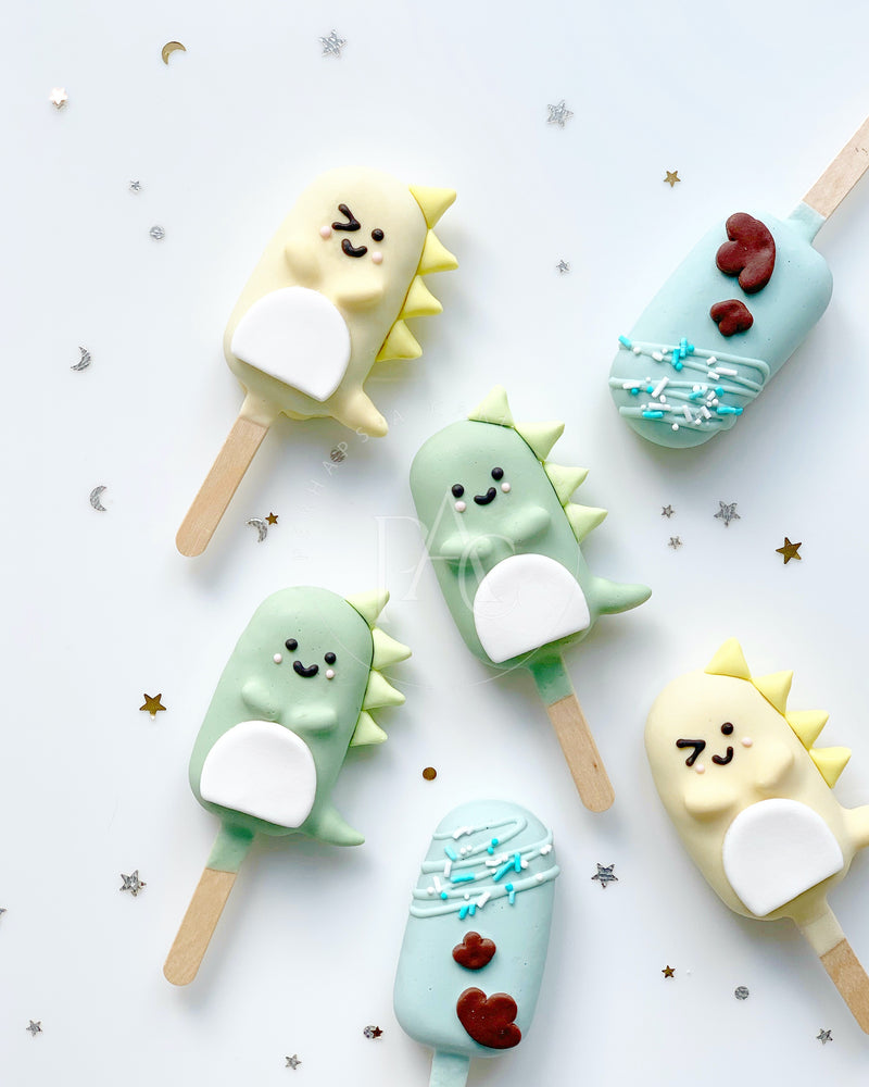 [Cake popsicle] - Dinosaur set